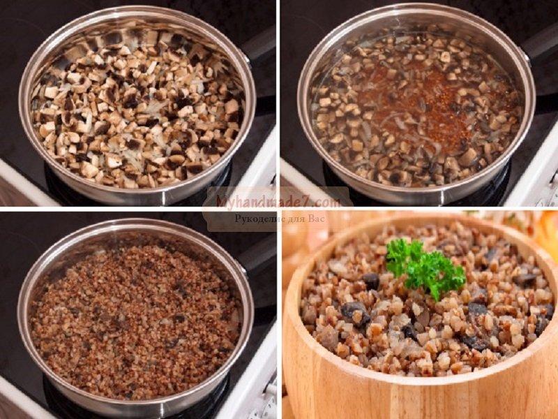 Гречневая каша с грибами - вкусно и полезно