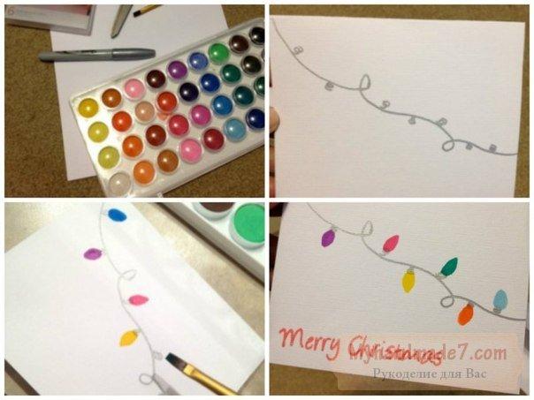 Новый год 2016: открытки своими руками