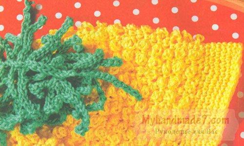 детская шапочка мимоза