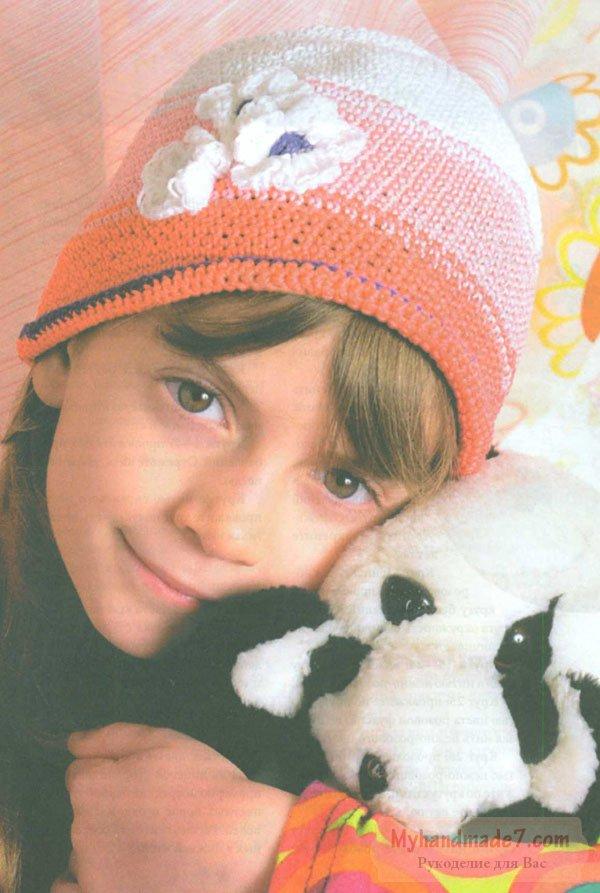 Вязаная детская летняя шапочка: пошаговый мк со схемой иф ото