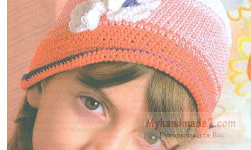 детская элегантная шапочка
