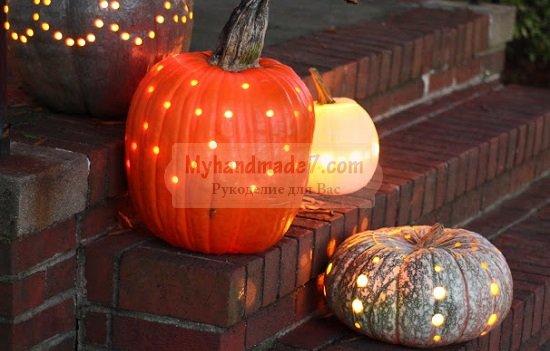 Светящиеся тыквы на Хеллоуин своими руками