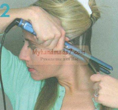 завивка волос выпрямителем
