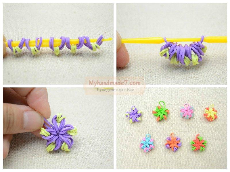 Как плети цветок на рогатке