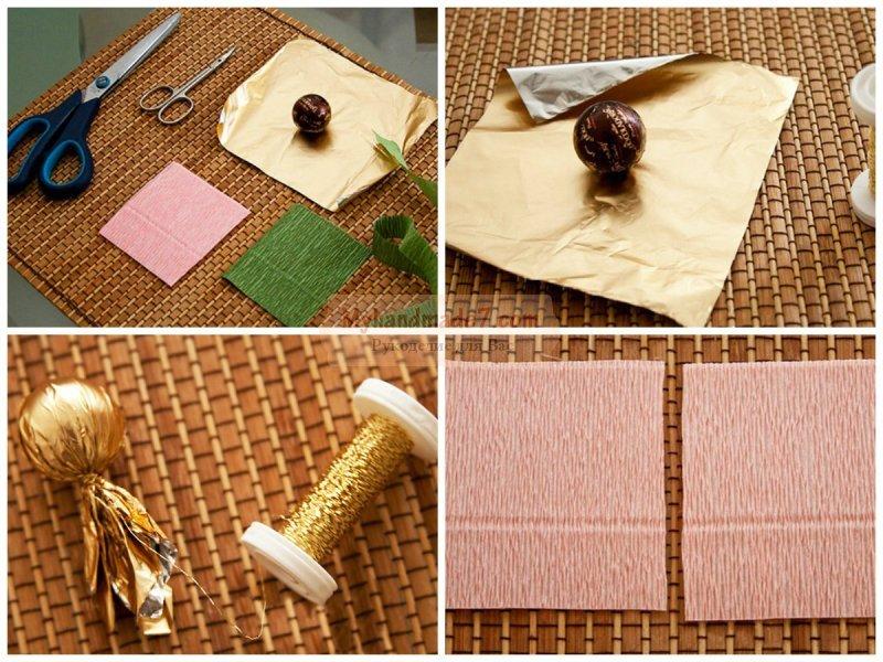 Букеты из конфет для начинающих: мастер-классы с пошаговыми фото