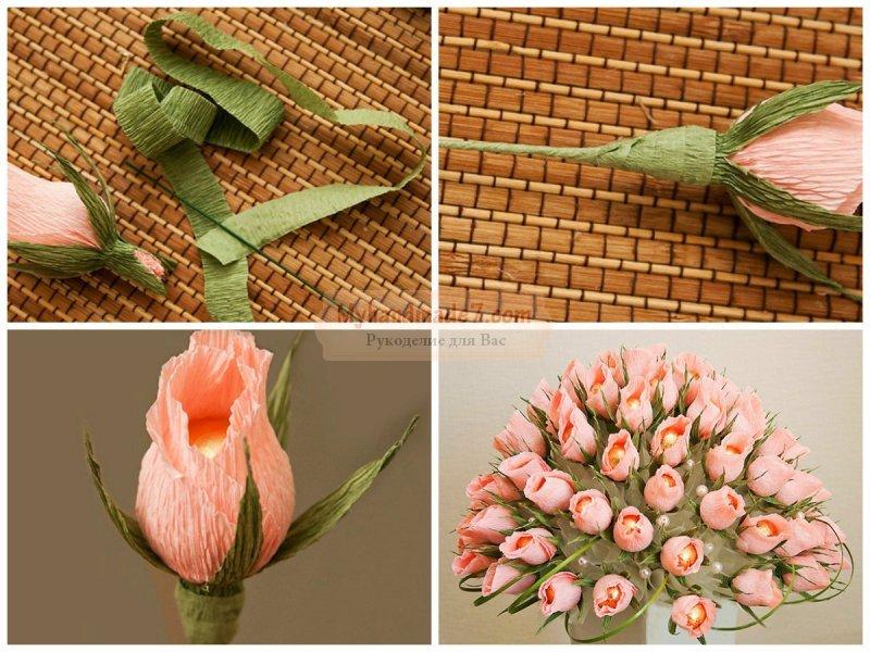 Как сделать цветы из конфет своими руками пошагово с фото