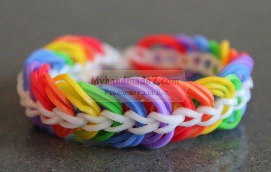Браслеты из резиночек: способы плетения