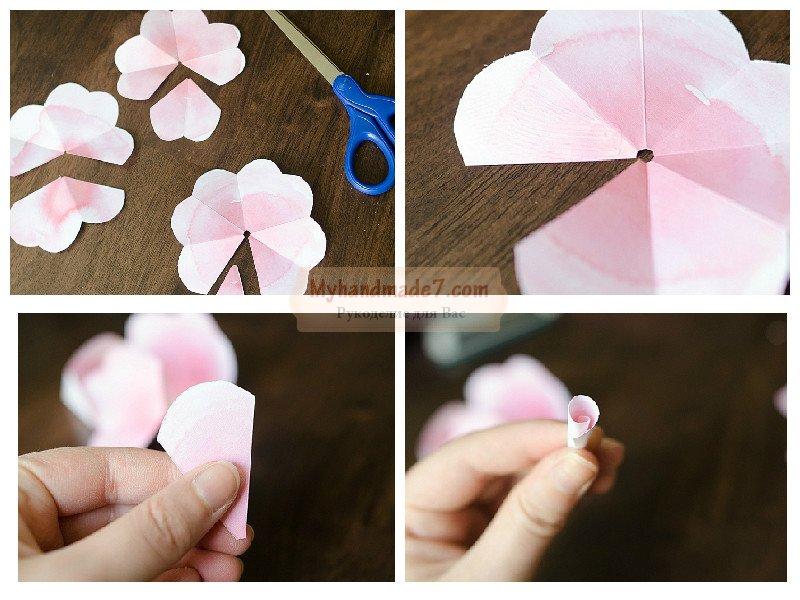 Необычно красивые розы из бумаги своими руками