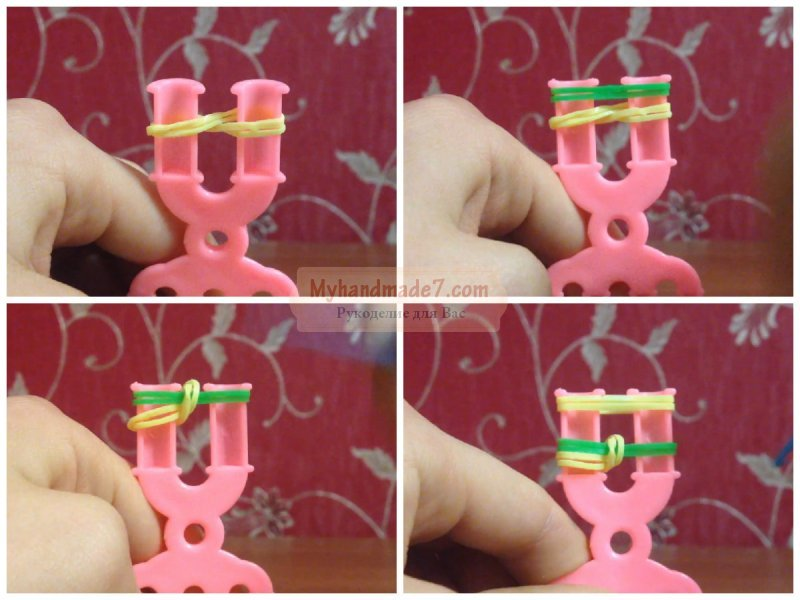 Браслет из резиночек пошаговая инструкция