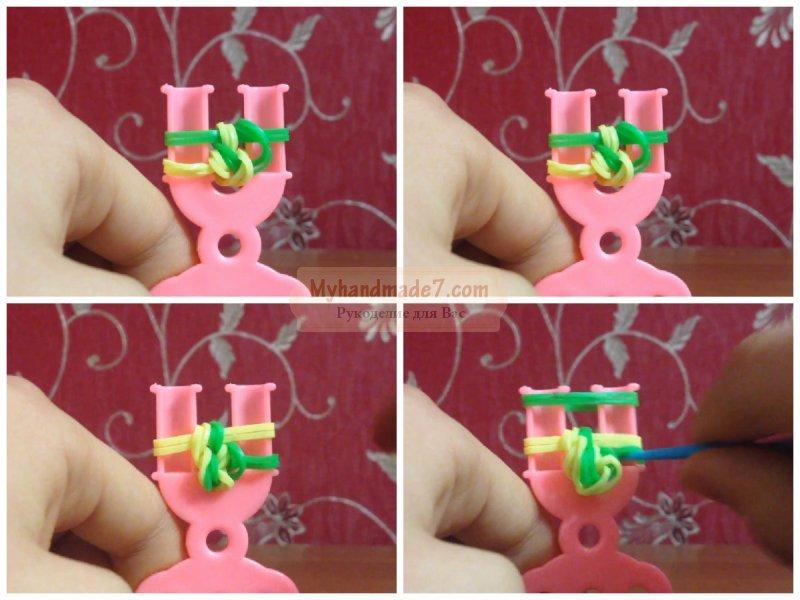 Резинки для плетения браслетов видео французский коса