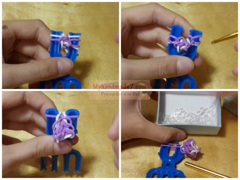 Плетение из резиночек браслеты для начинающих фото схемы