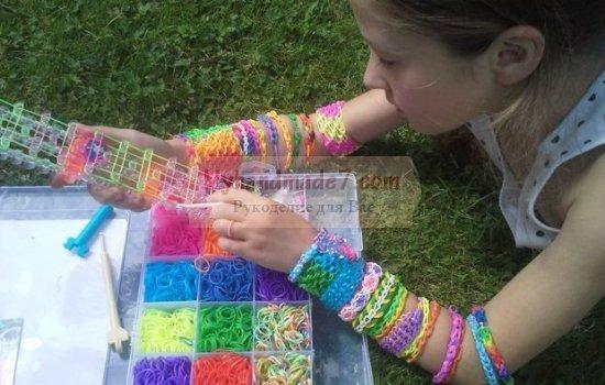 Разные способы плетения из резинок. Мастер-классы с фото