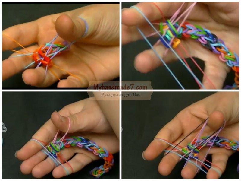 Браслеты из резинок простые на пальцах