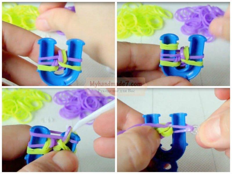 Браслеты из резинок широкие на пальцах