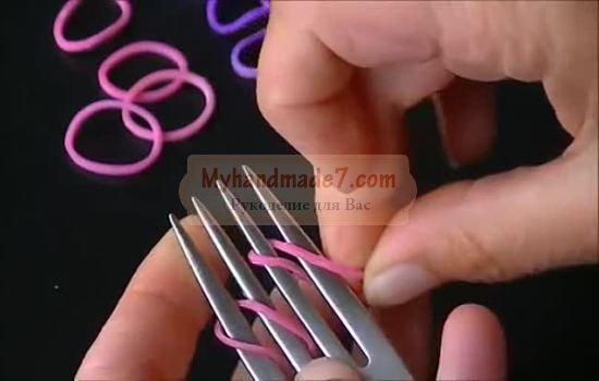 Плетение из резиночек на вилках: лучшие фото и видео мастер-классы
