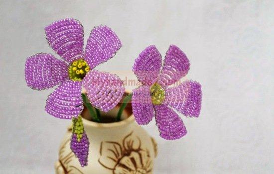 Поделки из бисера - цветы. Самые лучшие идеи