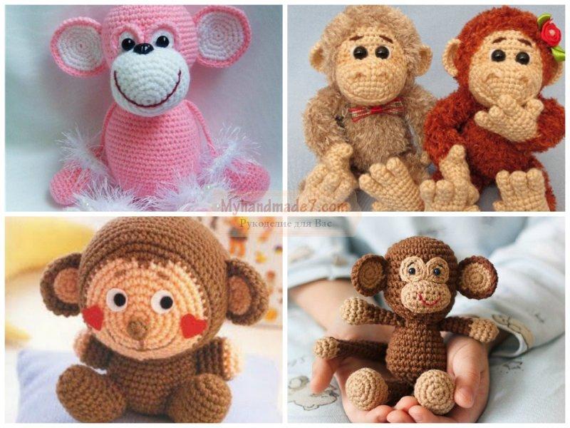 Свое вязание крючком обезьянки