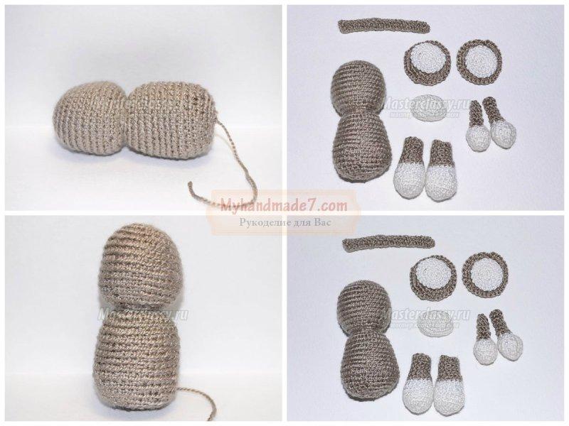 Обезьянка амигуруми крючком: схема и подробное описание