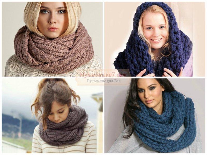 ажурное вязание спицами шарфа с описанием