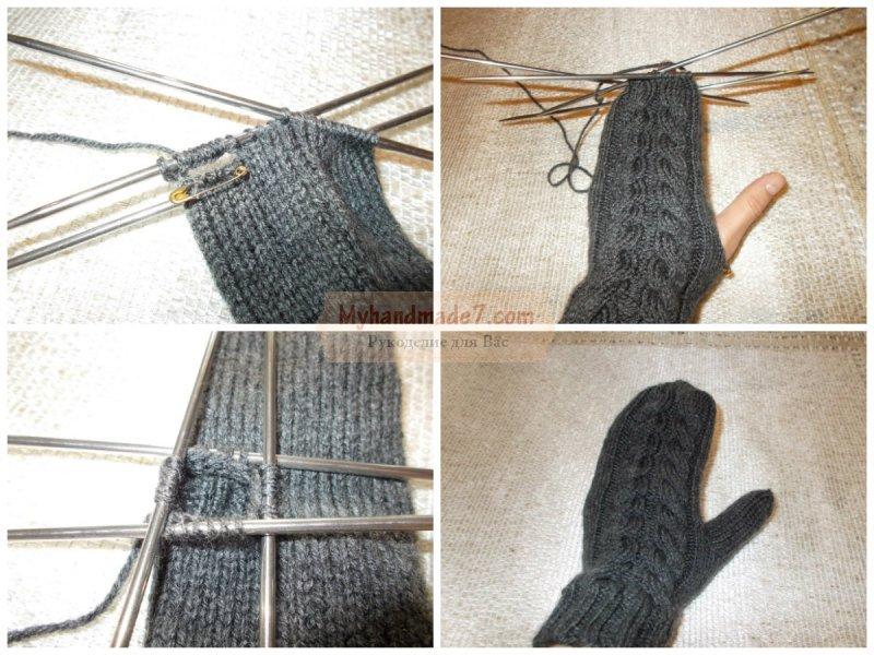 Вязание варежек для детей и взрослых