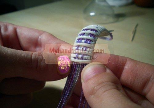 Плетение из шнурков в технике скубиду