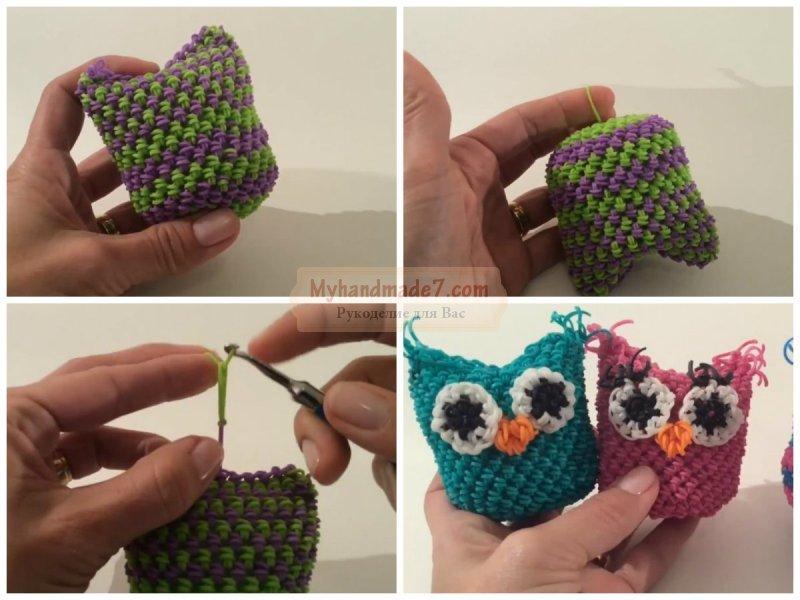 Как сделать сову резинками