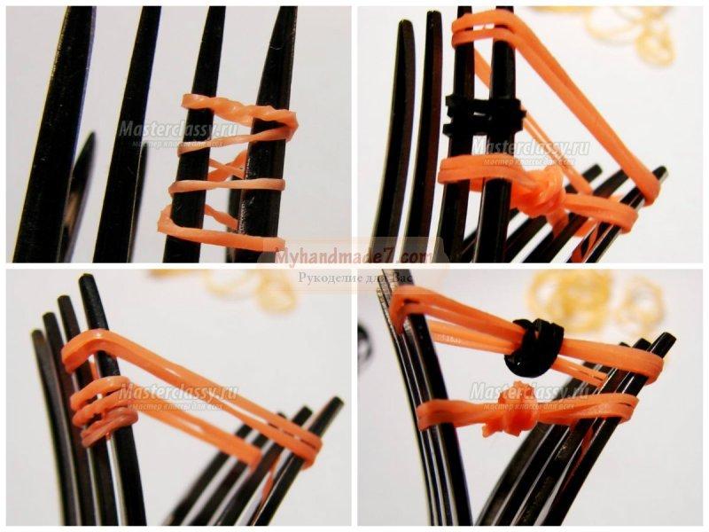 Фигурки из резинок на вилках: как плести? Идеи и фото
