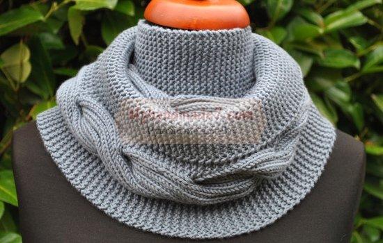Вязание снуда спицами. Модные новинки и фото