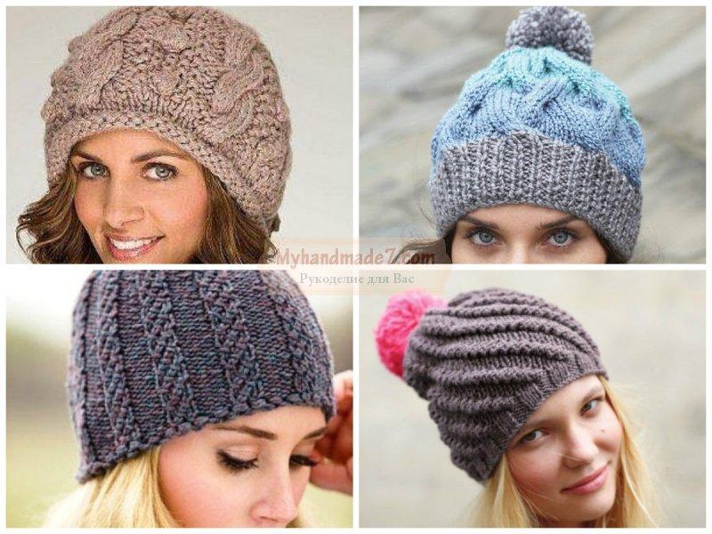 Вязание шапки спицами. Лучшие варианты с фото