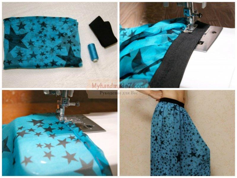 Шьём детям мастер класс юбка солнце пояс на резинке как сделать #2