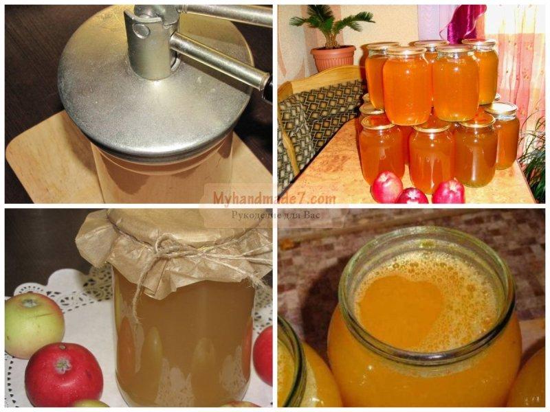 Сок из яблок на зиму. Правила заготовки