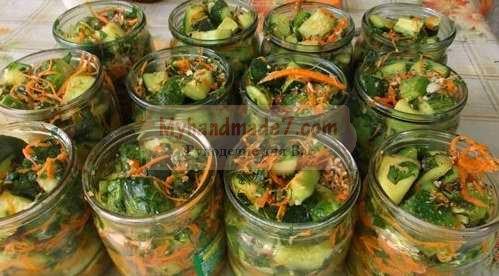 салат из патиссонов по-корейски на зиму