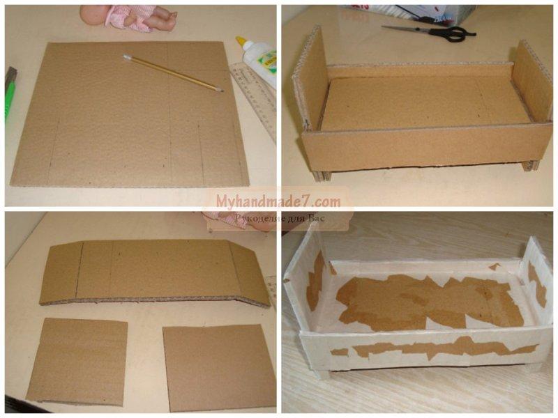 Как сделать мебели для кукол монстер хай