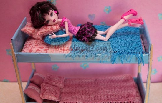 Как сделать кровать для кукол своими руками