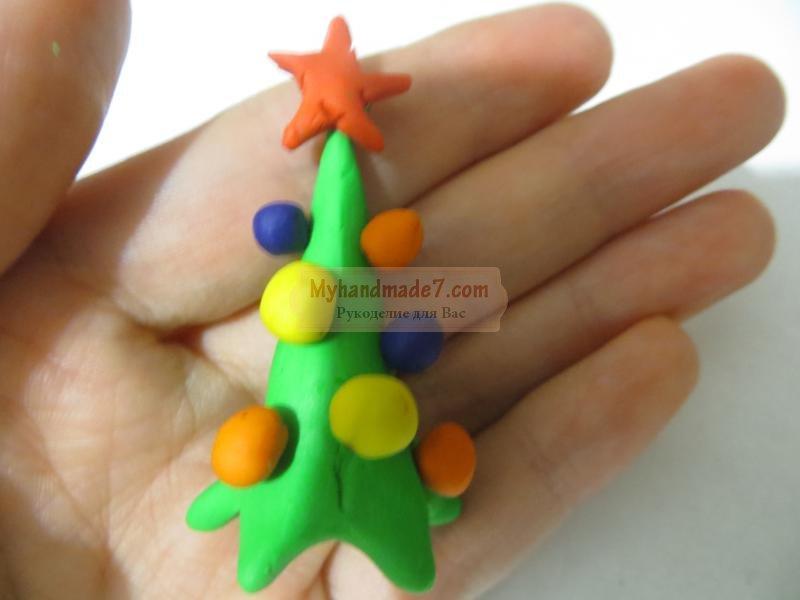 елочка из пластилина своими руками