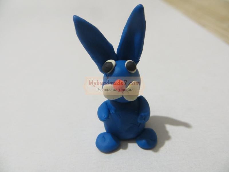 Поделка из пластилина кролик