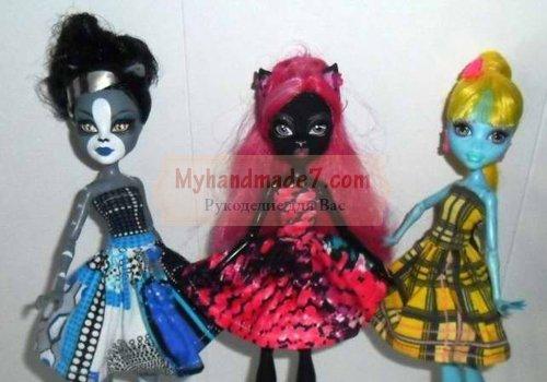 Как сшить одежду для кукол Монстер Хай? Мастер-класс «Розовый бутон»