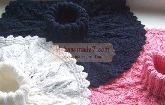 Вязание манишки для детей и взрослых