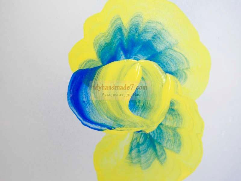 роспись стеклянных ваз акриловыми красками