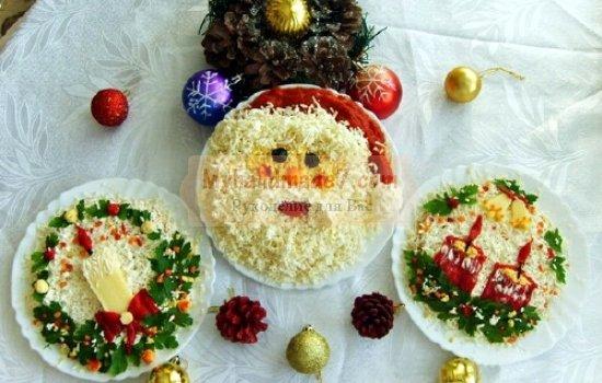 Самые лучшие новогодние салаты: рецепты с фото