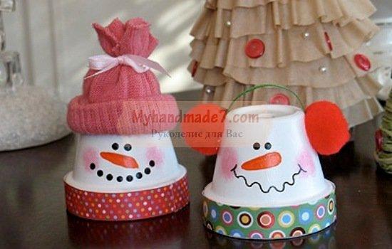 Поделки в детский сад снеговик фото