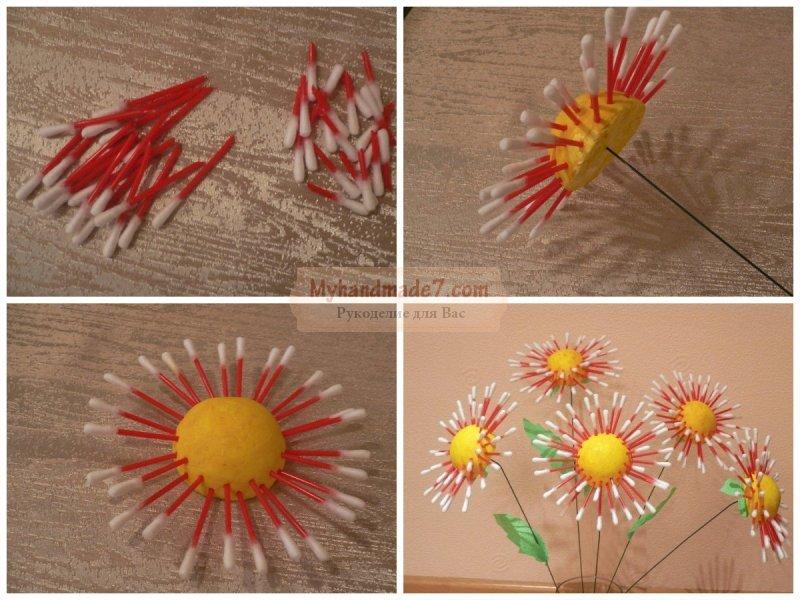 Поделки из ватных палочек: пошаговые мастер-классы с фото