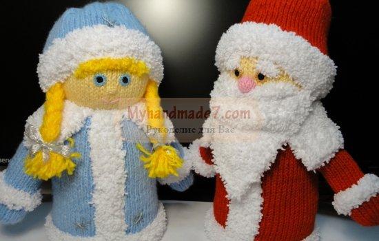 Дед Мороз и Снегурочка своими руками. Лучшие идеи с фото