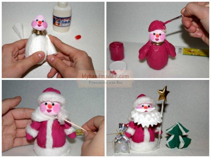 Поделка Дед Мороз: пошаговые мастер-классы с фото