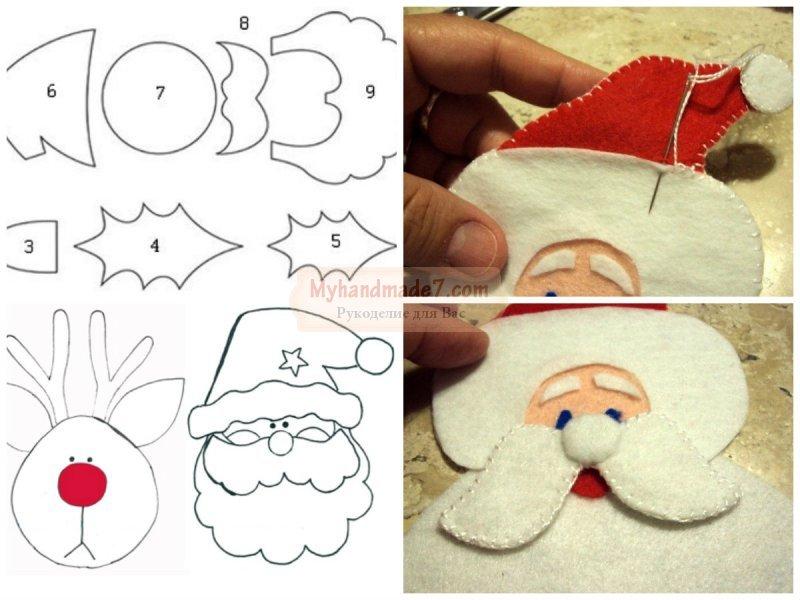 Дед Мороз своими руками: выкройки и шаблоны