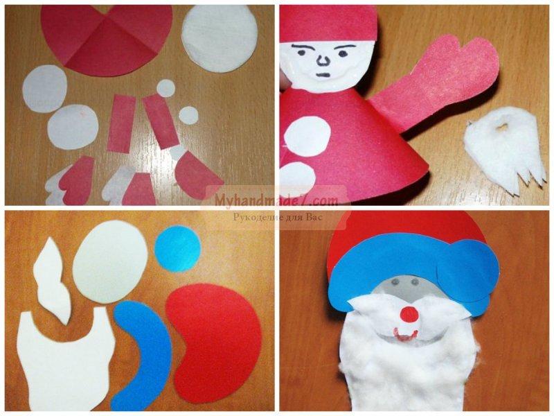 Дед Мороз своими руками из бумаги: пошаговые мастер-классы с фото