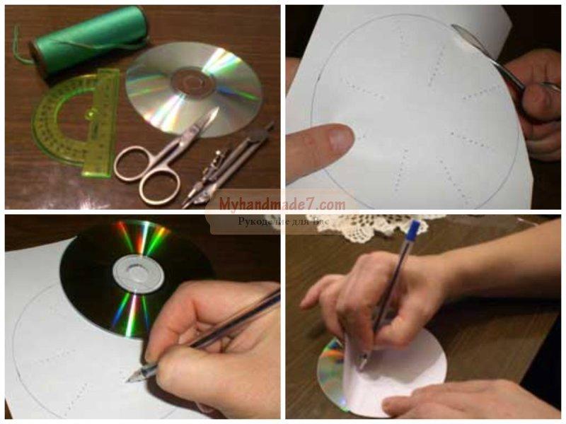 Елка из дисков своими руками: подробные мастер-классы с фото