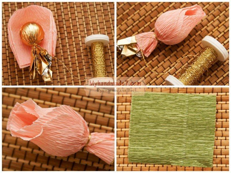 Мастерим подарок на 8 марта искусственные цветы купить в орле