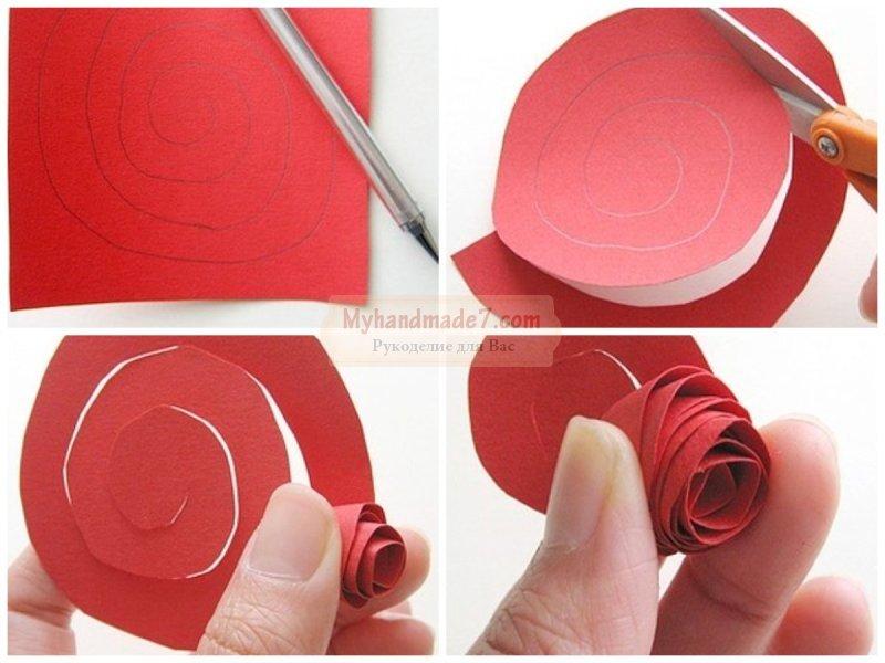 Розы из бумаги своими руками. Пошаговые мастер-классы с фото