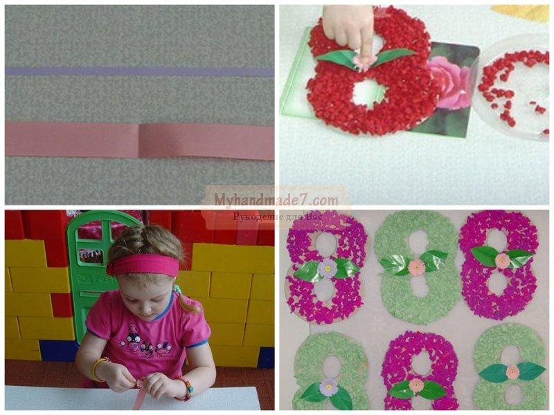 Поделки к 8 марта в детском саду - просто и интересно